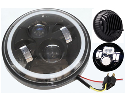 Jeep LED Headlight - Angel Eye 7inch 73W Jeep Led Headlight