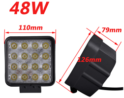 4inch LED Work Light - JT-1210-48W 4.3inch