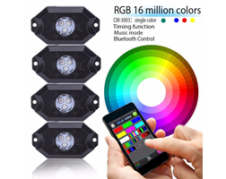 Other LED Driving Light - Bluetooth LED Rock Light with RGB 16 Million Colors