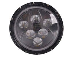 "Jeep LED Headlight - 7"" Round 60W"